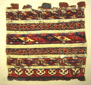# 428 Two very old and rare Varamin bagfaces, 52/50, 53/50 cm, Northern Persia, 2nd half 19th century, professionally sewn on linen and mounted, great natural colours.