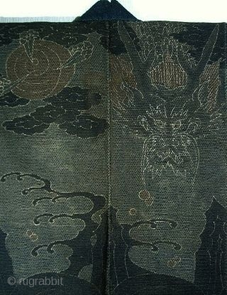 Banten with Dragons.   Meiji Period, circa 1880, 88x117cm.    Given the high risks, being firefighter in Japan in old days was a job that required a great organization and a good  ...