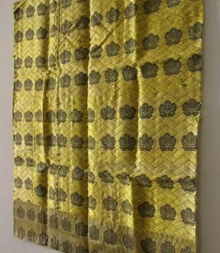 Silk temple cloth, Japan, late Meiji (circa 1900), cm 62x62. This is an 'uchishiki', a squarish cloth of rich silk used to cover the front of altars in Buddhist temples. The origin  ...