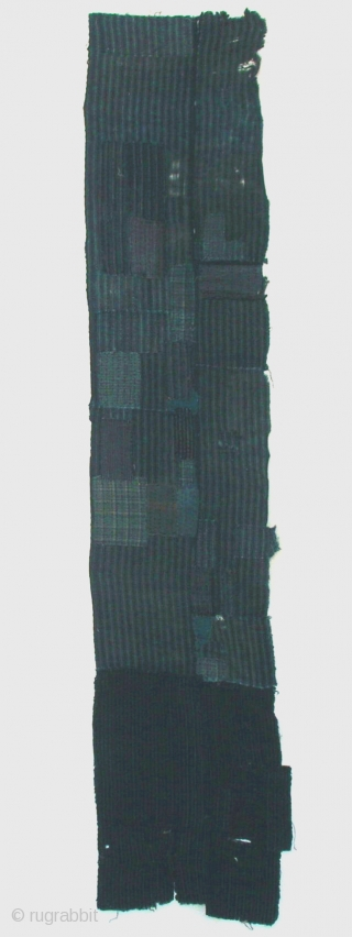 """Boro panel, Japan, Taisho (circa 1920), cm 186x37. There is a class of Japanese folk textiles known as boro, which literally translated means """"rags"""" or """"ragged."""" Broadly speaking, boro textiles are the  ..."""