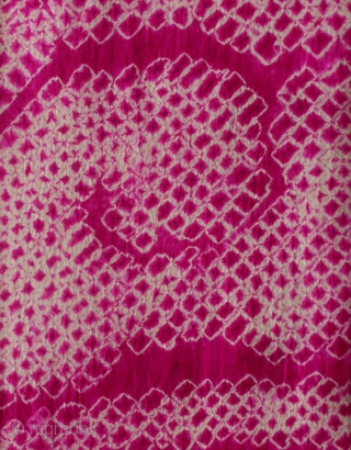Silk Shibori Obi, Japan, early Showa (circa 1930), cm 315x32. The 'obi' is a sash for traditional Japanese dresses, and a part of kimono outfits. This one is a so-called 'nagoya obi',  ...
