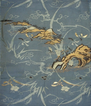 Silk temple cloth, Japan, early Showa (dated 1929), cm 212x113. This is an 'uchishiki', a cloth of rich silk used to decorate altars in Buddhist temples. The origin of the uchishiki can  ...