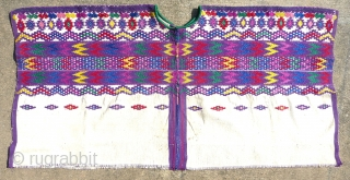 Beautiful vintage ceremonial huipil from San Pedro Sacatepequez, Guatemala Dept., Guatemala. From a the collection of a well-known museum. Collector also known. All provenance will be given to the buyer only. The  ...