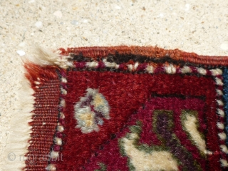 Antique late 19th century / early 20th century Kirshehir yastik rug. Beautiful colors with a cochineal field and purple accents. All colors are probably natural. Woven with an average knot count of  ...
