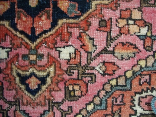 Rare Sarouk Fereghan Bagface Late 19th century – early 20th century  In very good condition with minimal loss on ends of small minor border. Ends secured and reinforced with a supplemental weft. Recently  ...