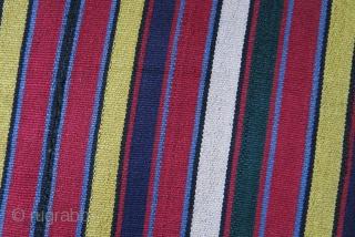 "Shahsavan silk jajim all good colors and condition..Size : 34.5"" X 34.5"" - 88 cm X 88 cm"