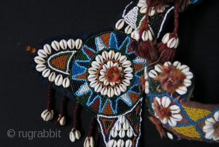 Sothwest of Persia- glass beaded Camel headwear. 19th cent.