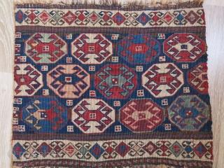 "Shahsavan reverse sumak bedding bag end panel. Size : 18.5"" X 15"" - 47 cm X 38 cm"