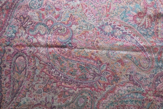 "Tajikistan - Lakai ethnic mirror cover - very fine silk embroidry with chain stitch. mostly natural colors. Printed cotton backing. size : 20"" X 20"" - 50 cm by 50 cm Circa  ..."