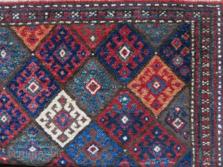 "Jaff Kurdish Bag face, All saturated good colors with pile and fine weave. Size: 21"" X 19""  53 cm X 49 cm"
