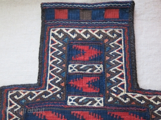 "Baluch salt bagin great condition with goat hair side wrapping. Circa 1900 Size : 21"" X 13"" - 53 cm X 33 cm"