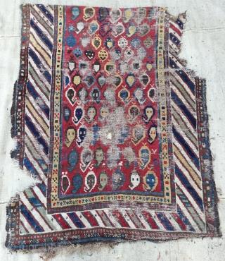 Shahsevan fragmand carpet size 120x110cm