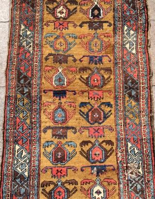 Persian Kurdish carpet maybe bidjar size 265x87cm