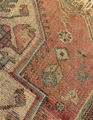 Persian Kurdish fragment carpet size 120x105cm