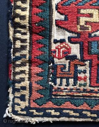 Rare Shahsavan saddle bag but it's has a face bag, size 31x24cm