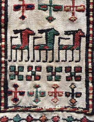 Shahsavan saddle bag size 22x20cm22x21cm