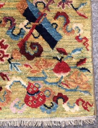 Tibet carpet 19th century.—size—2'5x1'11 ft—75x58cm.