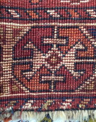 Qhasgai lion carpet and repaired size 185x135cm