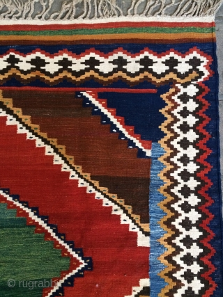 Qhasgai kilim all colors natural dyes 1960 or 70s,size 230x170cm