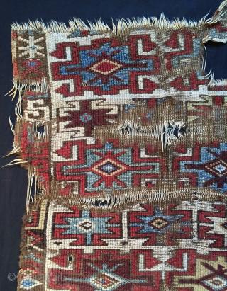 Anatolian Kurdish Fragmet 1800 or 1820s size 115x96cm