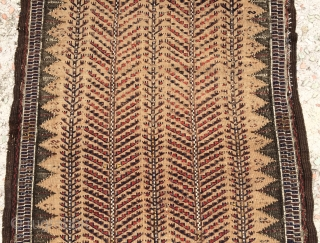 Beluch tree of life sofra nice quality and very fine, ground camel wool all are colors natural dyes and it is have little silk. Size 5x2 ft