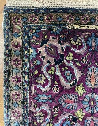 Qhazan carpet  silk size 40x40cm