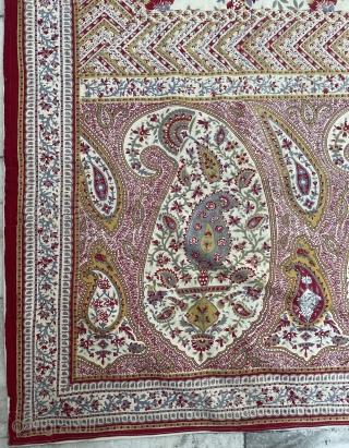 Extraordinary  Qhalemqhari  l think Indian?  size 280x130cm