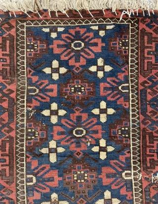 rare blue ground beluch carpet size 130x80cm