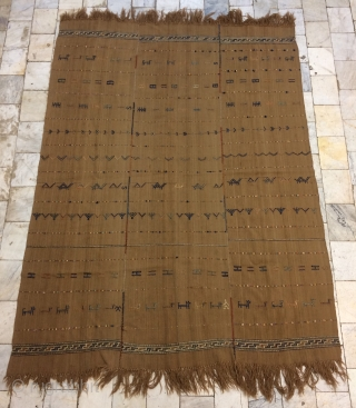 Shahsevan camel wool jejim size 210x150 cm
