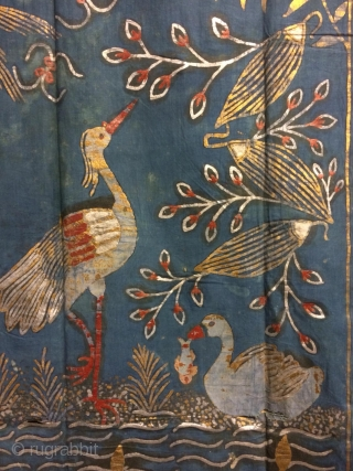 Chine Textille, 18th century chinese dynasty 6th Emperor Qianlong period,yellow color gold juice,gray color silver juice, other  colors are natural paint.size 240x130cm