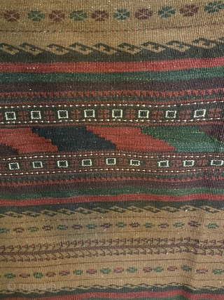 A very nice Beluch kilim all colors natural dyes and camel wool. Size 240x130cm