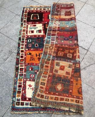 Qhasgai gabbeh 1950s size 153x130cm