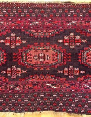 Turkmen chuval silk wool and cotton. Size 2'9''- 5'4'' ft.