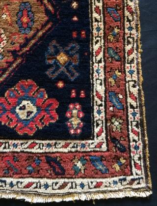 Shahsavan bag face middle design camel wool size 57x55cm