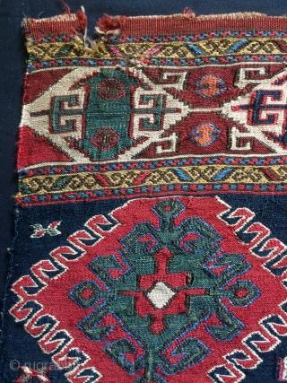 Shahsavan  panel weft silk  size 43x45cm