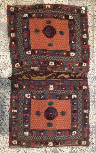Rare Qhasgai saddle bag, one face bag size 64x80cm