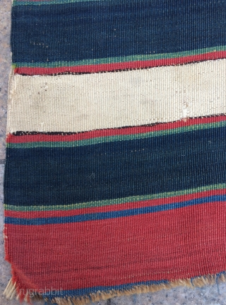 Shahsavan kilim very fine quality and very nice colors circa 1840 size 240x77cm