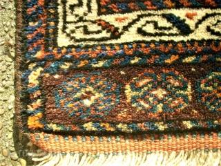 Luri bag front. Size: 41 x 42 cm. Full pile.