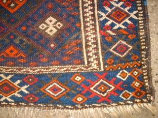 Big kurdish Jaff bag. Size: 118 x 82 cm. thin pile. Used.