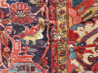 persian Heriz. Size: 238 x 341 cm. One small repair. Good Colors.