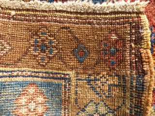 antique kurdish runner. Size. 114 x 370 cm. Perfect Colors. Some small repairs.