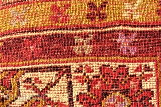 Konya Ladik Prayer rug. Size: 105 x 183 cm. TOP item.  One small used pile.