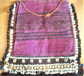 Fantastic Baluch bag. size: 50 x 48 cm. Full pile. Perfect condition.