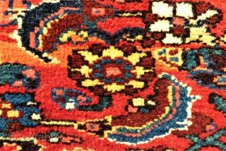 antique Bidjar Mafrash side. Size: approx. 100 x 48 cm. Great colors and perfect wool.
