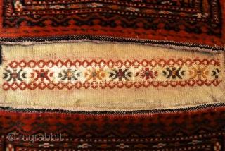 Turkman small Khordjin. Size: 28 x 45 cm. Full pile.