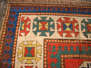 Antique caucasian rug. Size: 149 x 196 cm.