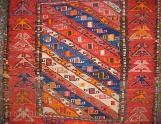 Old sumakh Hashdarud Khordjin. Size: 51 x 123 cm. Good condition. Nice gendje styl.