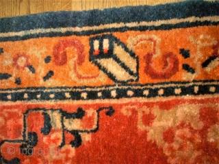 Tibetan mat. Size: 66 x 68 cm. Perfect condition.
