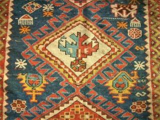 antique caucasian rug. Size: 103 x 178 cm. Used condition.
