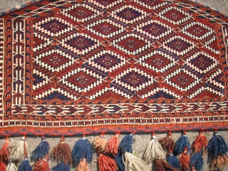 Old turkmen Asmalyk (Yomud). Size: approx. 120 x 80 cm. Very good condition.